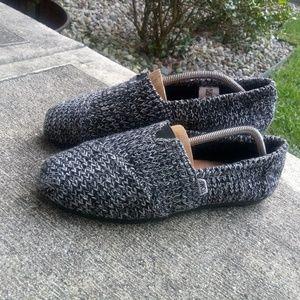 I💎Toms Alpargata black sweater knit Espadrille💎